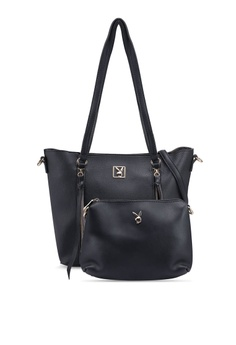 2d1cb2d23200 PLAYBOY BUNNY black Playboy Bunny 2 in 1 Ladies Bag B24BEAC7B4F15FGS 1
