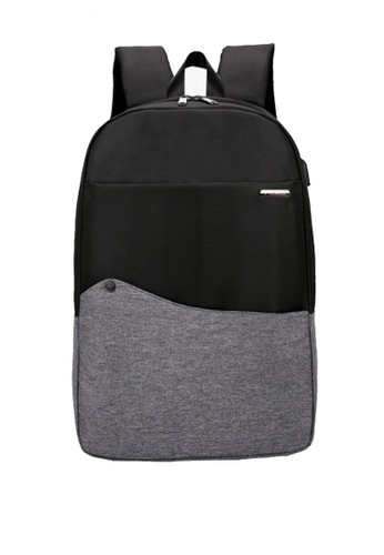 Lucky JX grey Christian Canvas Laptop Weekend Backpack 0F70FAC7CC1C40GS_1
