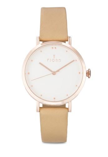 Doesprit台灣網頁tta簡約皮革圓框手錶, 錶類, 飾品配件