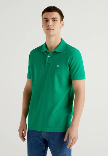 United Colors of Benetton green Regular Fit Polo F6410AAF5B4F73GS_1
