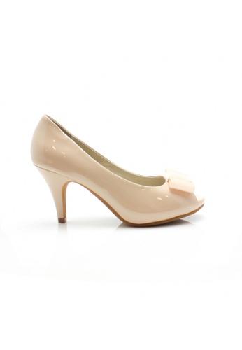Elisa Litz beige Hieu Heels (Beige) EL365SH94ZIJSG_1
