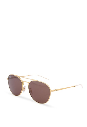 b167c4a38f2 Ray-Ban gold Youngster RB3589 Sunglasses 477B3GL0CD223BGS 1