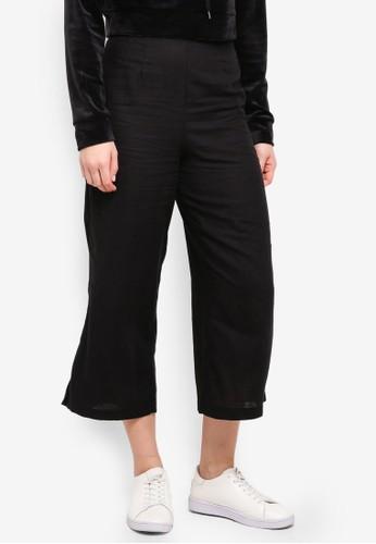 Supre black Crop Wide Leg Pants 66C61AA993B8FFGS_1
