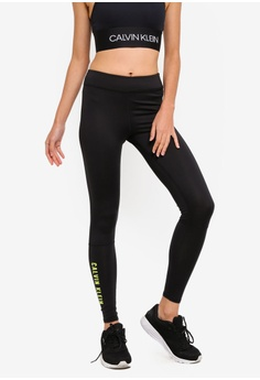 ff7006a6f45 Calvin Klein black Side Logo Leggings - Calvin Klein Performance  76A15AAB33D34AGS 1
