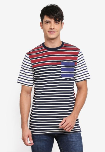 French Connection multi Jumble Stripe Tee 10A1CAA312D542GS_1