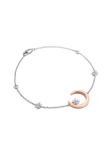 Crudo Leather Craft silver La Favore 925 Silver Stelle Luna Bracelet 05AEFAC8D987F9GS_1