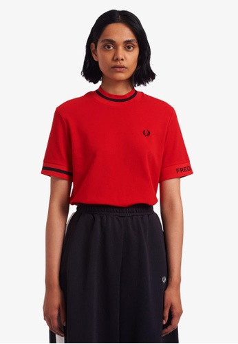 Fred Perry red G9148 - Branded Pique T-Shirt - (Cherry Bomb) D9718AA97CF7EBGS_1