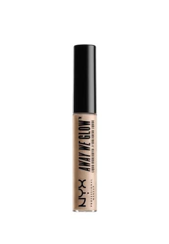 NYX Professional MakeUp brown NYX PROFESSIONAL MAKEUP Away We Glow Liquid Highlighter - Crystal Glare 2E832BEBB30168GS_1