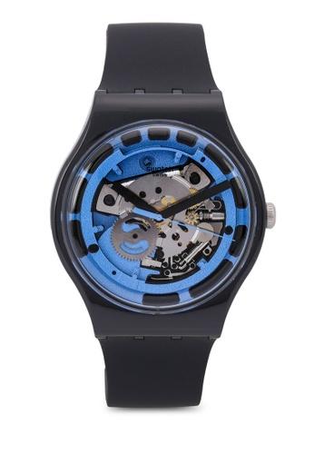 Swatch black Blue Anatomy Watch BA35AAC039D03EGS_1