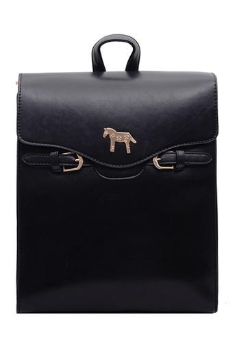 Vince black European Designed Backpack ( Black ) FL898AC63AOMMY_1