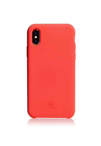 Monocozzi red GRITTY - Liquid Silicon Stain Resistant Case for iPhone XS Max - Red 6D062AC90ECF7AGS_1