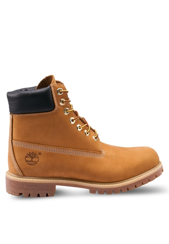 Timberland brown and yellow Timberland Iconic Premium 6 Inch Waterproof Boots B6E23SH95B63A3GS_1