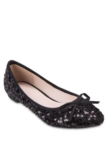 亮片蝴尖沙咀 esprit蝶結娃娃鞋, 女鞋, 鞋