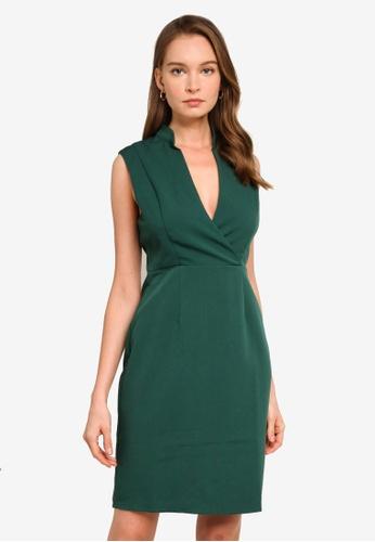 REUX green Adriana Dress 22FE6AADB1DB9AGS_1