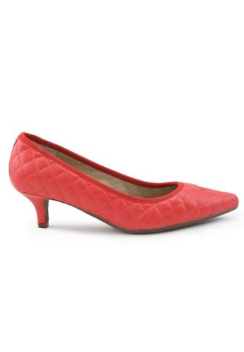 Shu Talk 紅色 羊軟皮尖頭低跟鞋 SH544SH09S55TW_1