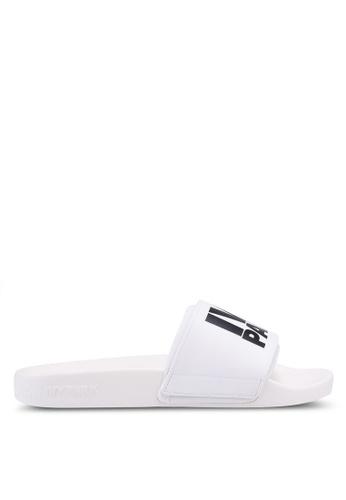 Ivy Park white Stacked Logo Neoprene Sock Slider A187CSHE70117CGS_1