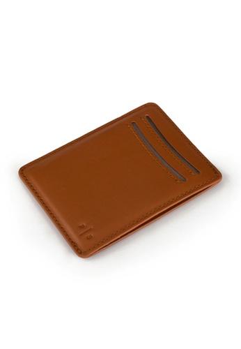 PLAIN SUPPLIES brown Kas II RFIDsafe Cardholder - Cognac D3A49AC5C8971CGS_1