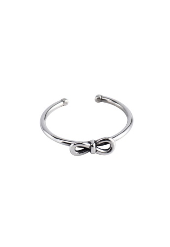 OrBeing white Premium S925 Sliver Bow Ring 469F2AC5DDE1AEGS_1