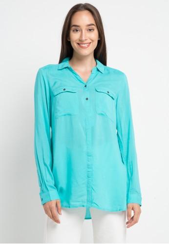 Ninety Degrees green Flufytutu Shirt 94E58AA0FA3233GS_1