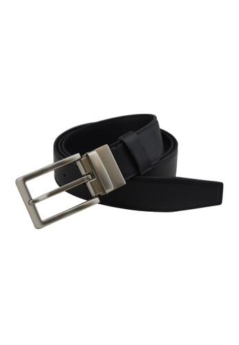 EXTREME black Extreme Genuine Leather Reversible Belt 3B728AC2DA045CGS_1