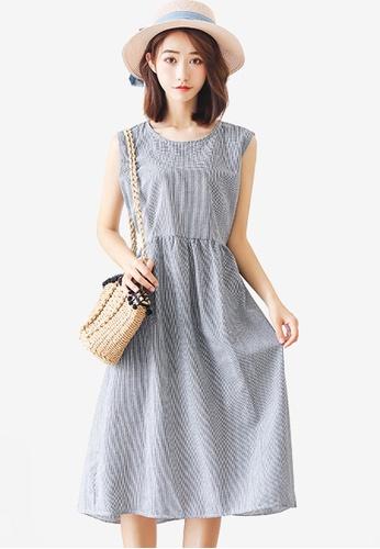 Shopsfashion grey Basic Sleeveless Midi Dress 99737AA0F14ACFGS_1