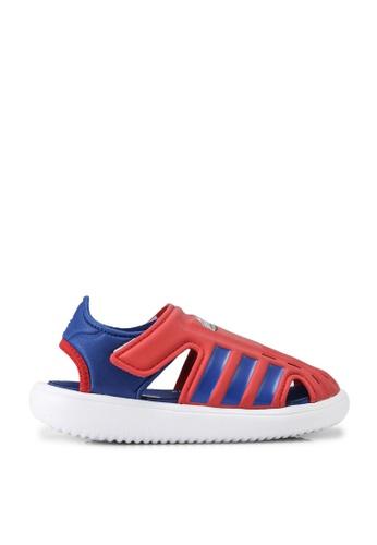 ADIDAS 紅色 water sandals 4400DKSB80D109GS_1