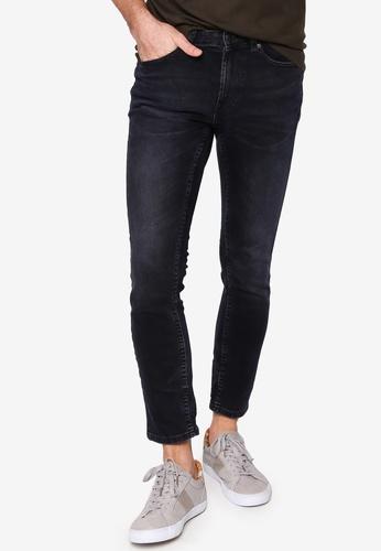 Burton Menswear London navy Blue Overdye Skinny Jeans EBB40AA80D49F4GS_1