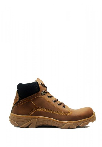 Cut Engineer brown Cut Engineer Safety Tactical Boots Iron Leather Brown FBD6ASH201DBFDGS_1