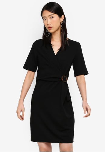 Vero Moda black Isa 2/4 Sleeve Dress 419FFAAE729DFDGS_1