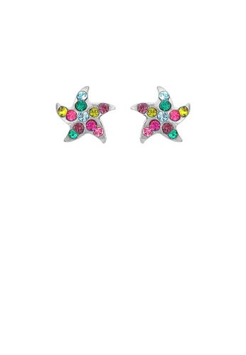 Glamorousky multi Exquisite Star Earrings with Multi-color Austrian Element Crystals 43155AC2EDCB0BGS_1