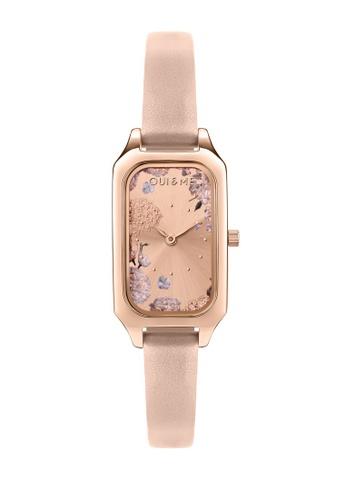 Oui & Me pink OUI&ME Finette Quartz Watch Rose Gold Leather Strap ME010120 C9CD9ACFC3100DGS_1