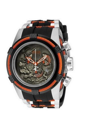 INVICTA black Invicta Bolt Men 53mm Case Steel, Black, Orange Stainless Steel, Polyurethane Strap Black, Orange Dial Quartz Watch 14193 w/ Cap IN968AC0FBSFSG_1