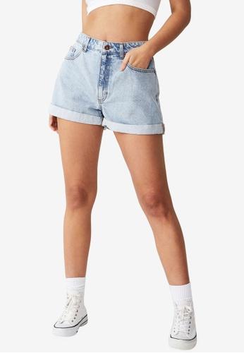 Cotton On blue Original Mom Denim Shorts 069CBAA928BD27GS_1