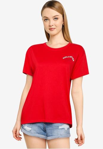 Hollister red Short Sleeve Tee 4B1A9AAC6AB1C3GS_1