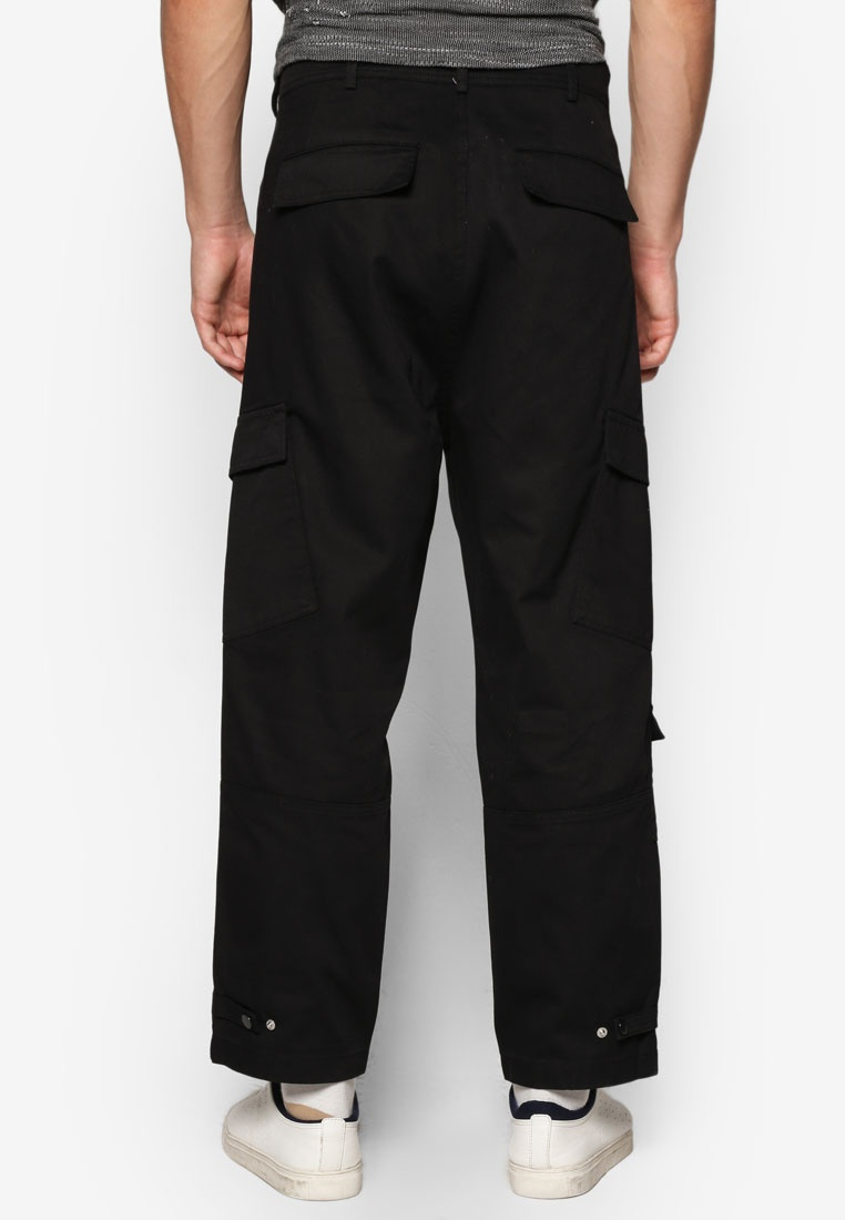 Style Trousers Military AAA Black Topman Black Cropped cPFHt6