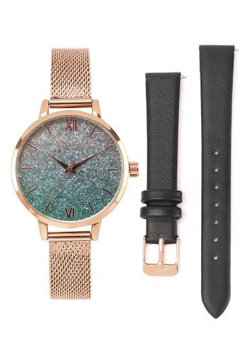 Milliot & Co. 橘色 Jacinthe 手錶 With 2 Straps CDA6CACE410C41GS_1