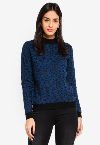 Vero Moda blue Fleo Lurex High Neck Sweatshirt EE6BDAA667892EGS_1