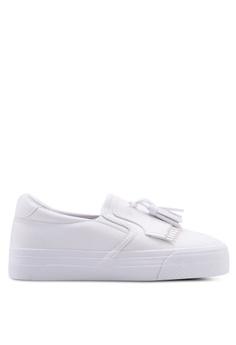 6ae259660cd9 Twenty Eight Shoes white Classic Synthetic Soft Leather Tassel Slip-Ons  64E0ESH1A61BAEGS 1