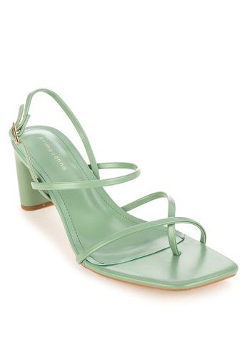 Primadonna green Strappy Heels 70C80SH459C7CAGS_1