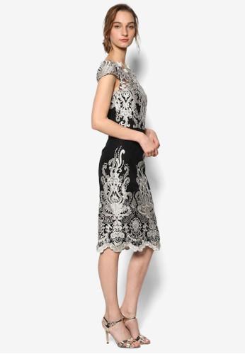 Debs 鉤針花飾蓋袖修身連身裙, 服飾, esprit台灣官網洋裝