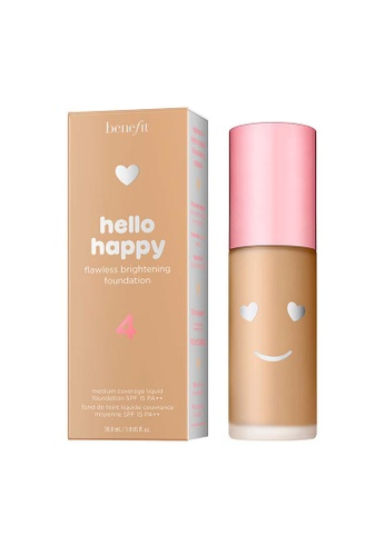 Benefit beige Hello Happy Flawless Brightening Foundation Shade 04 E9DC6BE1DA3A36GS_1
