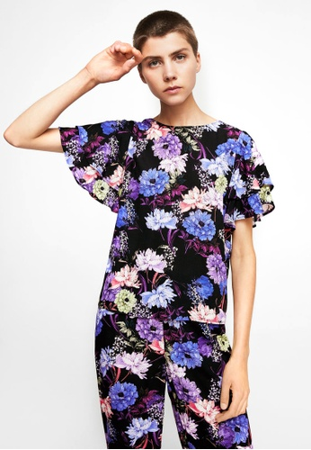 Mango black Floral Print Blouse MA193AA0RBVIMY_1