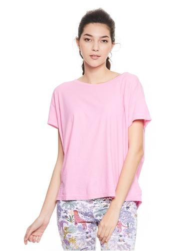 United Colors of Benetton pink Round neckline T-shirt 202E0AA5871EBDGS_1