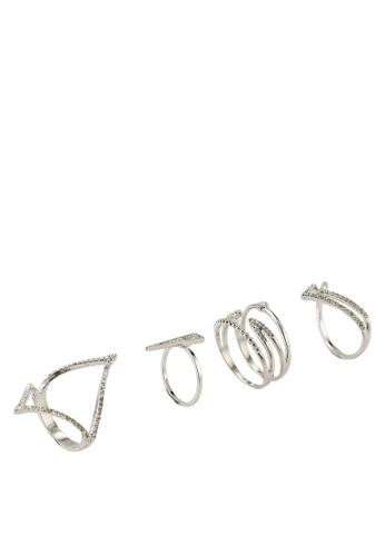 ALDO silver Masogelato Rings 02A9FACCD02B2BGS_1