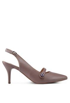 67cc968cd01 BETSY brown Eleanor Slingback Heels 7985BSH41E2C6AGS 1
