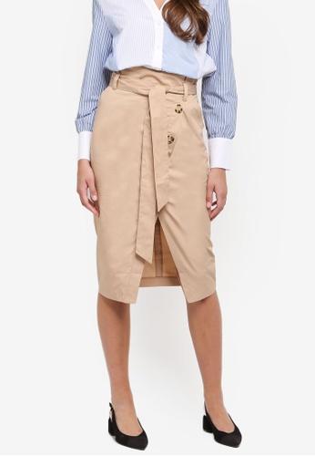 River Island beige Cotton Beige Skirt 7497BAA43FD1DFGS_1