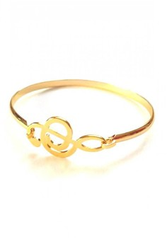Stainless Gold Music Note Bangle