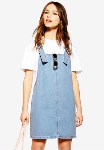 e6f24d6fab16 Buy TOPSHOP Petite Denim Pinafore Dress Online on ZALORA Singapore