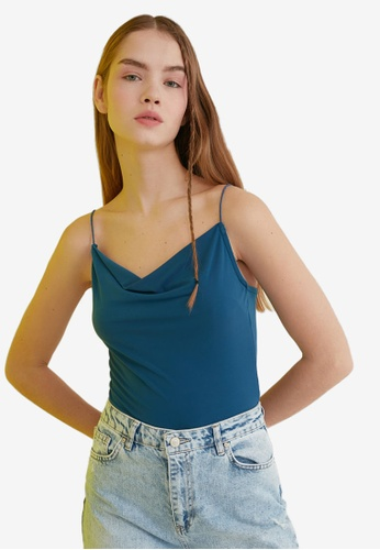 Trendyol green Strappy Cowl Neck Cami 25A16AAC70C9F5GS_1