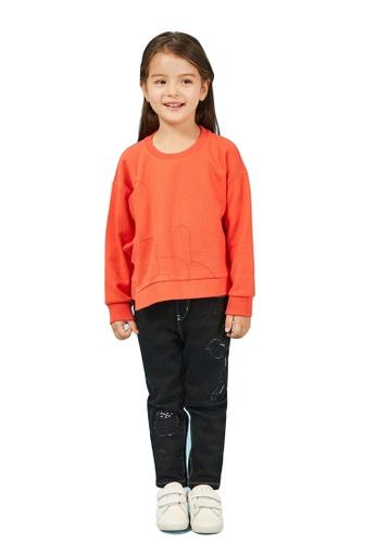 M.Latin black Embroidered Jeans with Elastics Waistband EE7C2KA9CE7068GS_1